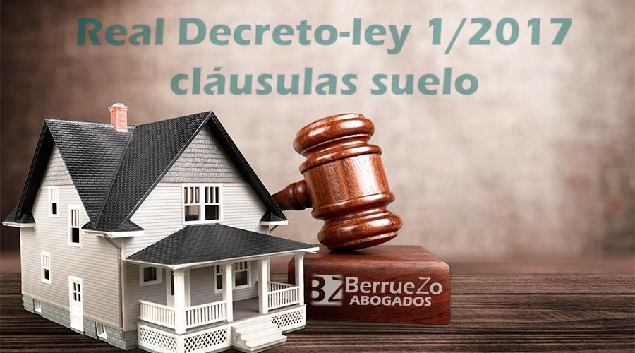 Decreto ley de cl usulas suelo berruezo abogados cartagena for Decreto clausula suelo